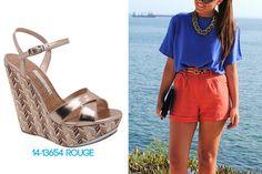 Garotas do Brasil – Via Marte - metalizado - tendências - salto alto - heels - sandália anabela - verão 2015 - como combinar - street style