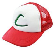 291485a33d2 Unisex-Adult Baseball Cap Pokemon Trainer Hat Cosplay Costume Adjustable  Mesh Cap Snapback Hat