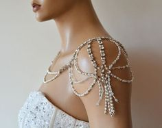Wedding Shoulder Jewelry Bridal Shoulder Necklace by ADbrdal