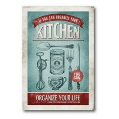 Vintage kitchen wall art.