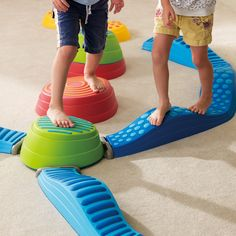 Rainbow River Stone to Wavy Path Connector* Rainbow River Stone to Wavy Path Connector* Daycare Design, Playroom Design, Kid Playroom, Kids Play Spaces, Kids Play Area, Play Areas, Kids Gym, Toddler Gym, Kids Indoor Playground