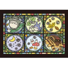 Jigsaw Puzzle - 208 pieces - Clear Color like Stained Glass - NO Glue - Totoro - Ghibli - 2014 (new)