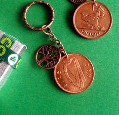 55th Birthday, Birthday Gifts, Fairy Tree, Copper Penny, Christmas Labels, Irish Traditions, Irish Wedding, Sweet Notes, Key Fobs