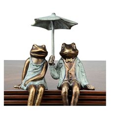 Found it at Wayfair - Dynham 2 Piece Sophisticated Frog Shelf Sitters Garden Statue Set
