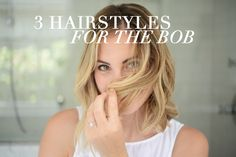 3 Hairstyle Hacks For a Short Bob (@jorrrr Three answers to our prayers... only if we only use one. haha)