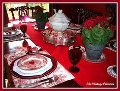 The Vintage Chateau: Valentine's Tablescape