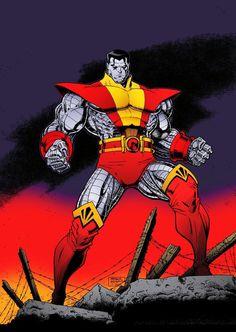 Colossus. Art by Arthur Adams. X-Men. Marvel Comics.
