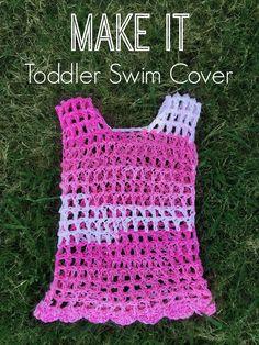 This Lovely Life: Crochet: Toddler Swim Cover Crochet Toddler, Crochet Girls, Crochet Baby Clothes, Crochet For Kids, Crochet Beach Dress, Crochet Bathing Suits, Crochet Summer Tops, Crochet Mittens, Knit Crochet