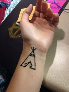 Teepee henna! Follow my simple henna Instagram page @ hopethroughhenna  #teepee #henna #tattoo #camp #diy
