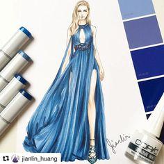 Zuhair Murad Spring Summer 2018 Ready-to-Wear. Fashion Illustration Tutorial, Dress Illustration, Fashion Illustration Dresses, Fashion Design Drawings, Fashion Sketches, Fashion Art, Boho Fashion, Chibi Girl, Spring Summer 2018