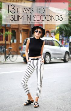 Feeling your best in what you wear is important and difficult in a thin-obsessed culture. Check out these tips for using your wardrobe to feel slim even on the lumpy days! #skinny #style