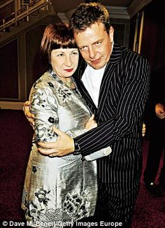 Suggs with wife Bette Bright