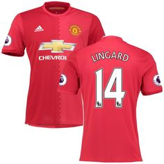 Jesse Lingard Manchester United adidas 2016/17 Home Replica Jersey - Red