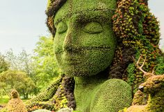 montreal botanical gardens mosaic giants | Botanical Sculptures Bring Fairytale Landscapes to Life in Montréal ...