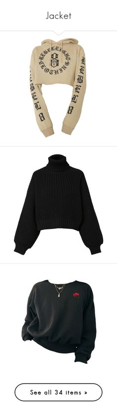 """""""Jacket"""" by fashunkillaa ❤ liked on Polyvore featuring tops, hoodies, sweaters, shirts, jumper, black, diesel black gold, women, long-sleeve crop tops and long pullover sweaters"""