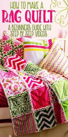How to make a rag quilt (easy beginner's guide),Quilting Joy I love this tutorial. Each step has a video to walk you through it – perfect for beginners! Rag quilts are so great to snuggle under. This makes quilting and sewing look easy. Quilting For Beginners, Sewing Projects For Beginners, Quilting Tips, Quilting Tutorials, Sewing Tutorials, Patchwork Quilting, Diy Projects, Quilting Projects, Teen Sewing Projects