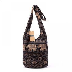 Quality Vintage Women Mochila Cotton Shoulder Bag Bohemian Style Messenger Bag Elephant Print Crossbody Bag Bolsas Soft Ladies Bag with free worldwide shipping on AliExpress Mobile Vintage Bohemian, Bohemian Style, Floral Shoulder Bags, Hippie Bags, Boho Bags, Types Of Bag, Elephant Print, Cotton Bag, Vintage Cotton