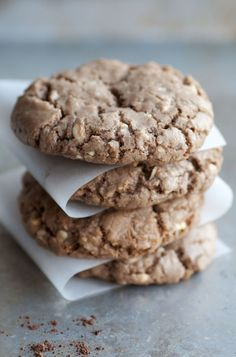 Chunky And Chewy Treat: Buttery White Chocolate Chip Cocoa Cookies - the use of brown sugar and a bit of cocoa powder give these morsels a great depth of flavor that seriously packs a punch.