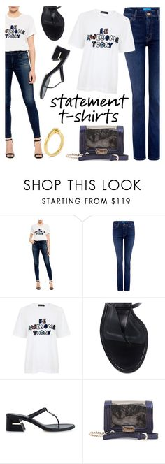 """Say It Loud: Slogan T-Shirts"" by ifchic ❤ liked on Polyvore featuring M.i.h Jeans, Markus Lupfer, TIBI, Mohzy, MIANSAI, contestentry, slogantshirts and ifchic"
