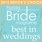 "Florida Bride Magazine editors awarded ""best in weddings"" for 2015."