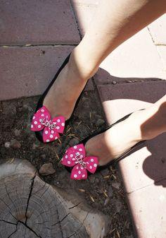 Olivia Paige -Rockabilly pin up Polka dot Shoe Clips LOVE. $12.00, via Etsy.