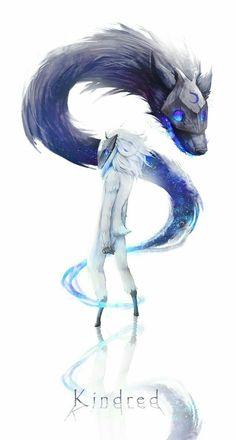[ 玄太 ] - Kindred league of legends champions Lol League Of Legends, Champions League Of Legends, League Of Legends Characters, Art Manga, Art Anime, Fantasy Creatures, Mythical Creatures, Fan Art, Lambs And Wolves