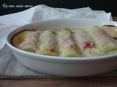Porri+gratinati+al+forno