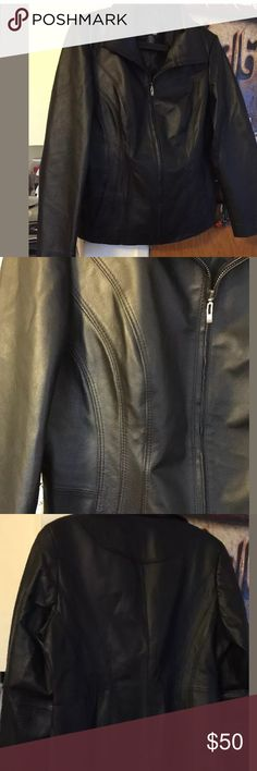 East 5th jacket East 5th leather jacket size L black color . New without tags never worn East 5th Jackets & Coats