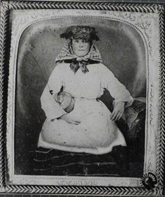This is a daguerreotype image of a tip girl, dated around 1860