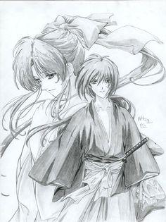 Kenshin and Kaoru by MLeth