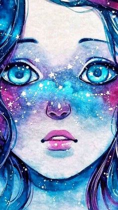 ideas eye wallpaper drawings for 2019 Fantasy Kunst, Fantasy Art, Pretty Art, Cute Art, Anime Kunst, Galaxy Art, Galaxy Anime, Anime Art Girl, Cute Drawings