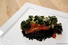 EGOSHE.dk - En madblog med South Beach opskrifter og andet godt...: Laks i fad med belugalinser