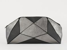 Foldable XXL clutch black / metallic by larakazis on Etsy
