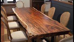 Modern Loft, Steel Table, Furniture Companies, Wooden Tables, Dinner Table, Wood Art, Countertops, Solid Wood, Hardwood