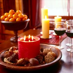 Serve warm mulled wine to your guests as they arrive or serve it later with mince pies.