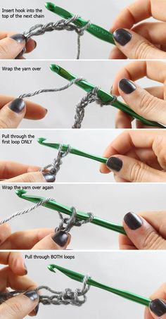 How to crochet a scarf using 2 simple stitches.