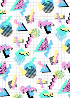 Shapes, 80s, 90s, graphics, iconic, pastel, colourful, stripes, geometric...