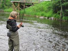 Ready to launch! (And swing a soft hackle.) This is not a Montana article but it is interesting! Best Fishing, Fly Fishing, Women Fishing, Fishing Stuff, Rod And Reel, Colorado Rockies, Fly Tying, Trout, Rocky Mountains