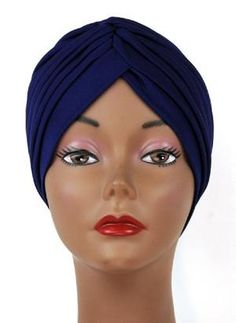 9015c80b74d01 Navy Blue Women s Turban hats Turban Hat
