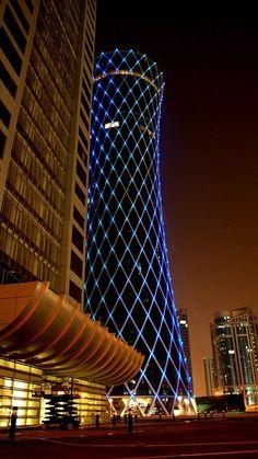 Tornado tower, Doha, Qatar More Pins Like This At FOSTERGINGER @ Pinterest