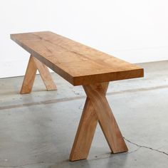 A contemporary twist on the classic, the Picnic Modern Bench utilizes interlocking joints inspired by Japanese woodworking to create a unique piece for casual indoor seating. The planar seat and flush