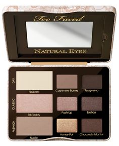 Too Faced Natural Eye Neutral Eye Shadow palette- I want this so bad!
