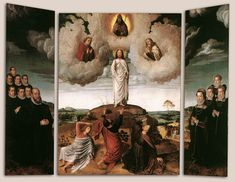 The Transfiguration of Christ, Gerard David, 1520 Transfiguration Of Jesus, Gerard David, Happy Feast, Giving Thanks To God, Fra Angelico, Church Of Our Lady, John The Baptist, Sacred Art, Renaissance Art