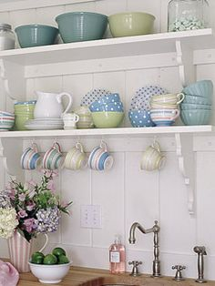 pretty open shelves