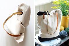 Renske's Minimalist Tote Bag via Brit + Co.