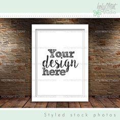 Frame Mockup by www.HolyMintStudio.Etsy.com Pixel Size, Editing Skills, Empty Frames, Insert Image, Simple Pictures, Frame Shop, Digital Image, Mockup, Your Design