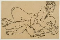 Egon Schiele  Self-portrait with Female Nude  1917-1918    National Gallery of Canada