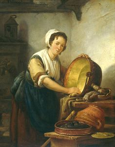 Van Srij - Femme dans sa cuisine