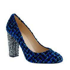 J.Crew Etta Glitter Tweed Pumps