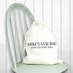 Looking for the prefect Gift? Check out our Personalised Cotton Cream Gym Bag. A great gift that is carefully personalised from It Just Got Personal Health Lesson Plans, Medical Logo, Personalised Gifts For Him, Christmas Gifts For Him, Perfect Gift For Him, Health Logo, Cotton Bag, Best Dad, Fathers Day Gifts